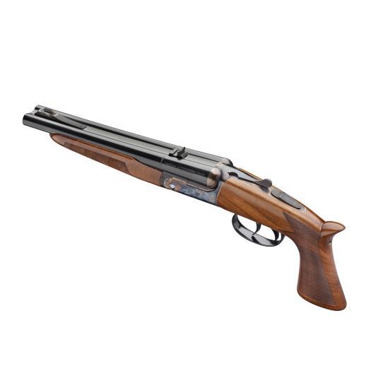 pedersoli howdah 410 pistol 45 barrel double trigger case pistols bore break hardened under quigley action finish rifle down sharps